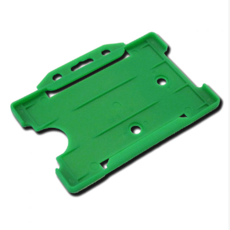 Green Single-Sided ID Card Holder (86mm x 54mm Landscape)