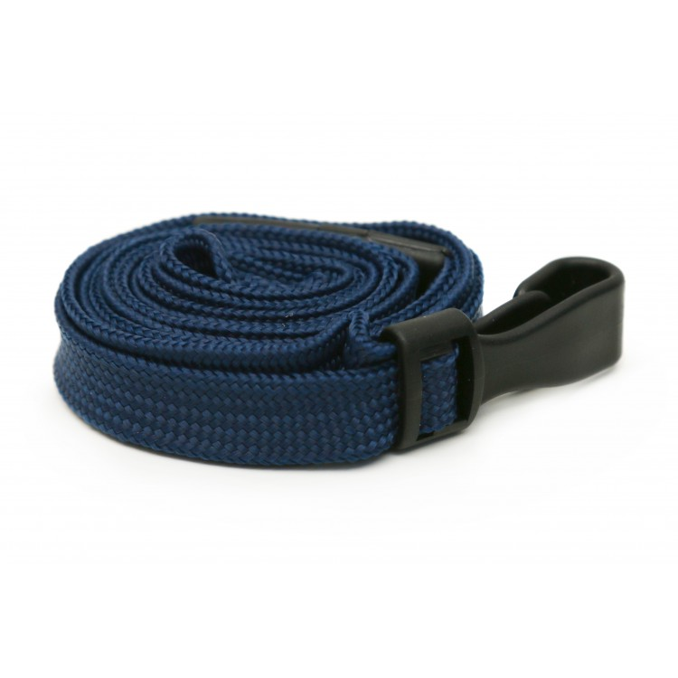 Navy Blue Plain Lanyard