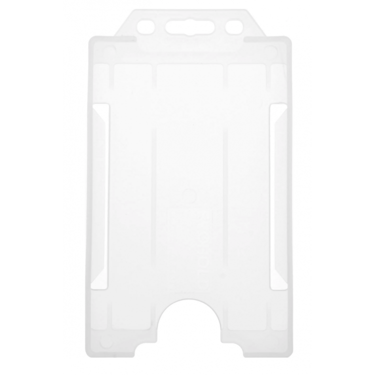 Clear Single-Sided ID Card Holder (86mm x 54mm Portrait)