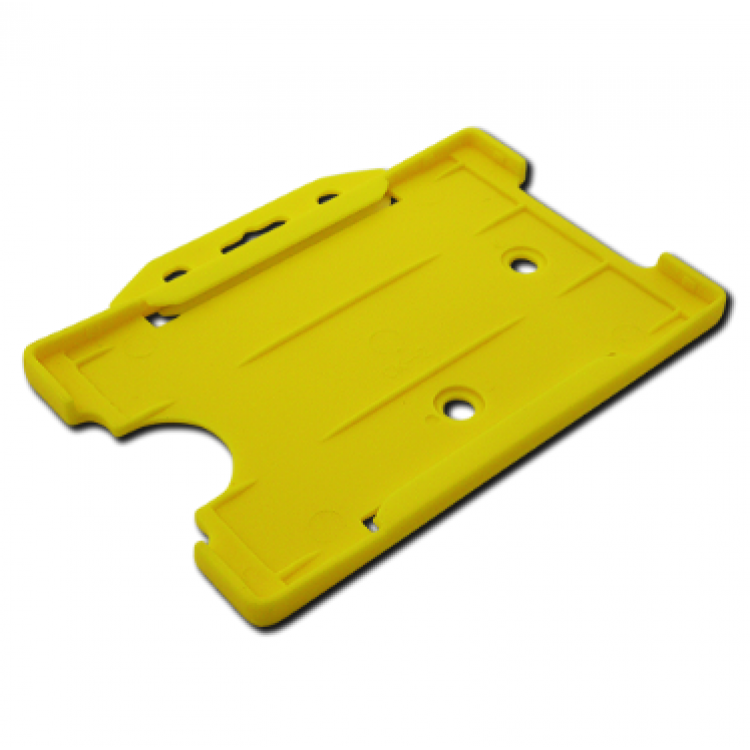 Yellow Single-Sided ID Card Holder (86mm x 54mm Landscape)